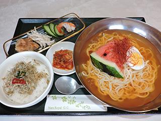 韓国風冷麺定食